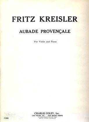 Carl Fischer Kreisler: Aubade Provencale Out of Print