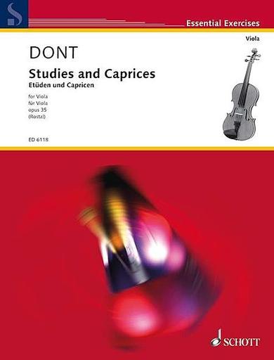HAL LEONARD Dont, j (Rostal): Etudes Op.35 (viola)