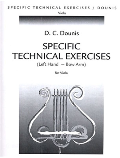 Carl Fischer Dounis: Specific Technical Exercises, Left Hand-Bow Arm for Viola