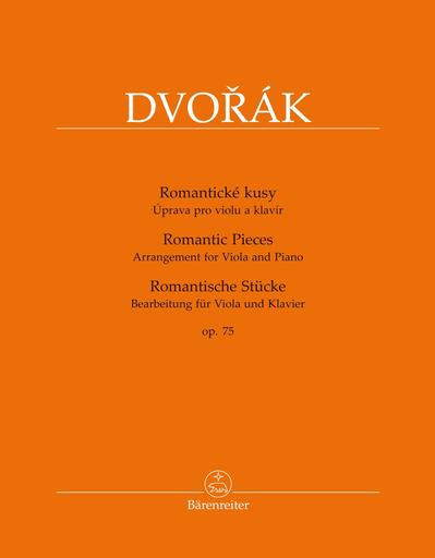 Barenreiter Dvorak: Romantic Pieces op75 (viola, piano) Barenreiter