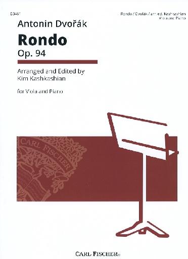 Carl Fischer Dvorak, Antonin (Kashkashian): Rondo Op. 94 (viola & piano)