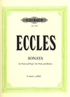 Eccles, Henry (Klengel): Viola Sonata in G minor (viola & piano) PETERS