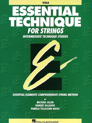HAL LEONARD Allen, M., Gillespie, R., & Hayes, P.T.: Essential Technique (viola)