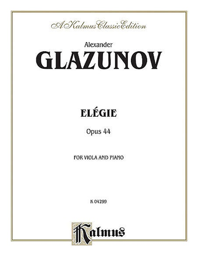 Alfred Music Glazunov, Alexander: Elegy Op.44 (Viola & Piano)