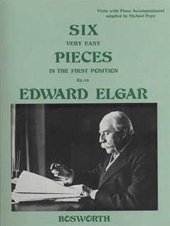 Bosworth Elgar, Edward: Six Very Easy Pieces in First Position, Op.22 (Viola/Cello & Piano)