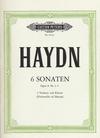 Haydn, F.J.: Sonaten Op.8 #1-3 (2 violins & piano, Cello ad lib) Vol.1