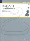HAL LEONARD Hindemith (Doflein): 14 Easy Duets, Vol.1 (2 violins) Schott