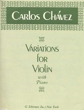 HAL LEONARD Chavez, Carlos: Variations for Violin (violin & piano)