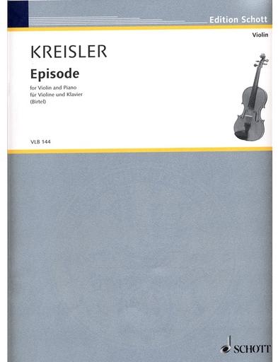 HAL LEONARD Kreisler, Fritz: Episode (violin & piano)