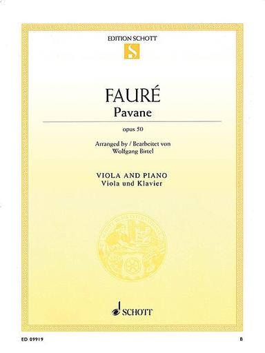 HAL LEONARD Faure, Gabriel (Birtel): Pavane Op. 50 (viola & piano)