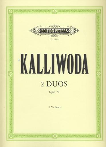Kalliwoda, Johan: Violin Duos, Op. 70 (2 violins)