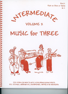 Last Resort Music Publishing Kelley, Daniel: Music for Three Intermediate Vol.2 (violin 2)