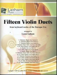 Latham: 15 Violin Duets (2 violins)