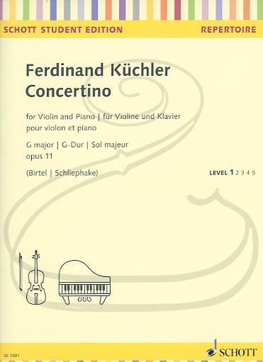 HAL LEONARD Kuchler (Birtel): Concertino in G Major, Op.11 (violin & piano) Schott