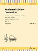 HAL LEONARD Kuchler: Concertino (violin, piano) SCHOTT