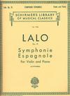 Schirmer Lalo (Lichtenberg): Symphonie Espagnole, Op.21 (violin & piano)
