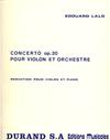 HAL LEONARD Lalo: Concerto, Op.20 (violin & piano reduction)
