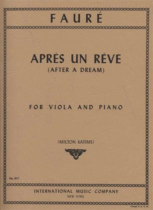 International Music Company Faure, Gabriel: After Dream (viola & piano)
