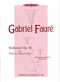 PETERS Faure, Gabriel: Sicilienne Op.78 (viola & piano) PETERS
