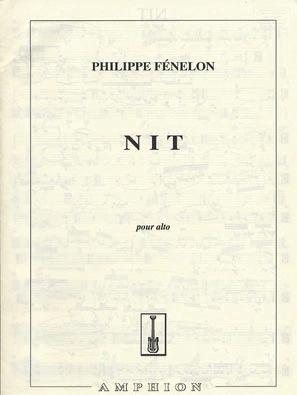 Carl Fischer Fenelon, Philippe: Nit (viola solo)