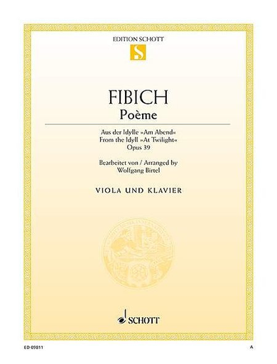 Fibich, Zdenek: Poem Op. 39 from ''At Twilight'' (viola & piano)