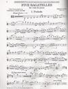 HAL LEONARD Finzi, G.: Five Bagatelles-transcribed by Veronica L. Jacobs (viola & piano)