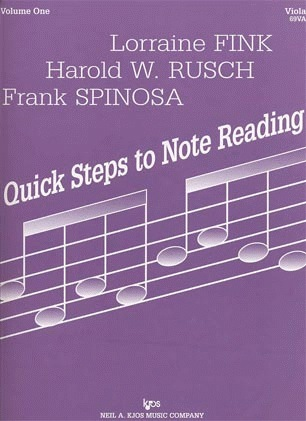 Muller, J.F., Rusch, H.W. & Fink, L.: Quick Steps to Note Reading, Vol.1 (viola) Kjos