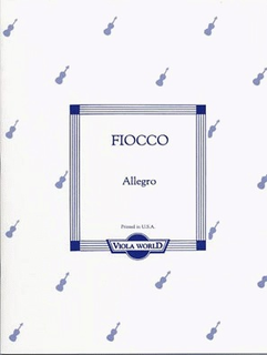 Viola World Fiocco (Arnold): Allegro (viola & piano)