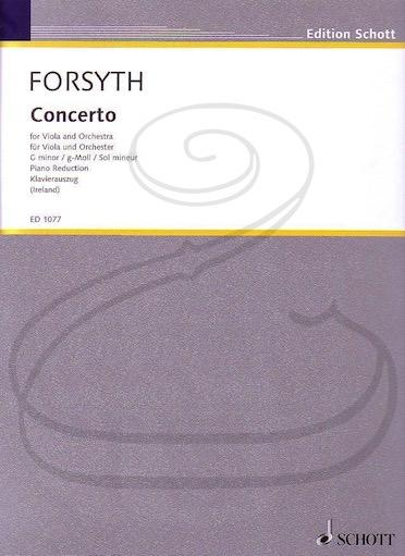 HAL LEONARD Forsyth: Concerto in G minor (viola & piano reduction) Schott
