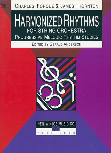 Forque, Charles: Harmonized Rhythms for String Orchestra (viola)