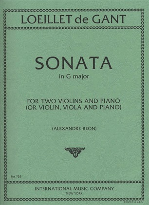 International Music Company Loeillet, Jean Baptiste: Sonata in G maj (2 violins & piano)