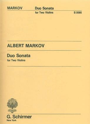 HAL LEONARD Markov, Albert: Duo Sonata for Two Violins