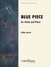 Canticle Distributing Larsen: Blue Piece (violin, piano) Galaxy Music