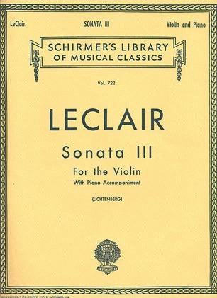 HAL LEONARD Leclair, J.M.: Sonata #3 in D (violin & piano)