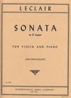 International Music Company Leclair, Jean-Marie (Francescatti): Sonata in d (violin & piano)