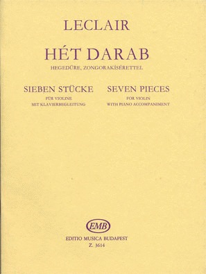 HAL LEONARD Leclair, J.M.: Seven Pieces (violin & piano)