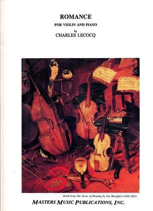 LudwigMasters Lecocq, Charles: Romance (violin & piano)