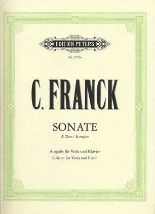 Franck, Cesar: Sonate in A major (viola & piano)