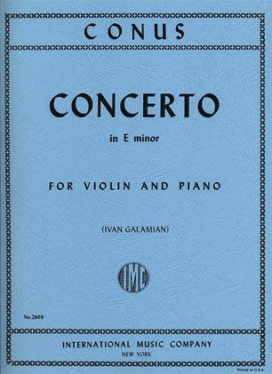 International Music Company Conus, Julius (Galamian): Violin Concerto in E minor (violin & piano)