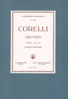 Stainer & Bell Ltd. Corelli, A. (Joachim & Chrysander): (Score) Oeuvres - Complete Works, Op.3 and 4, Volume II (mixed ensemble)