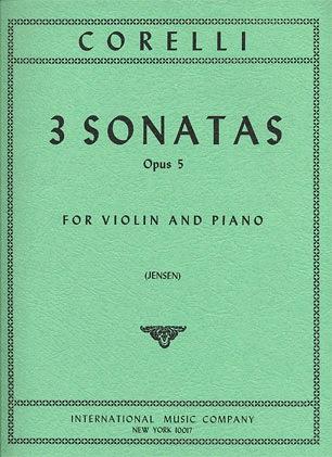 International Music Company Corelli, Arcangelo: Three Selected Sonatas Op.5 (Violin & Piano)