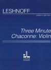 Carl Fischer Leshnoff, Jonathan: Three Minute Chaconne (violin)