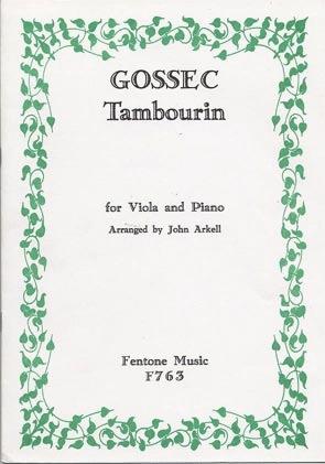 Gossec: Tambourin (viola & piano)