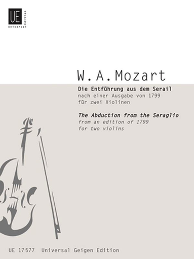 Carl Fischer Mozart, W.A. (Kovacic): Abduction from the Seraglio (2 violins)