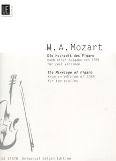 Carl Fischer Mozart, W.A. (Kovacic): The Marriage of Figaro (2 violins) Universal Edition