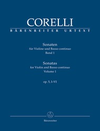 Barenreiter Corelli, Arcangelo (Hogwood): Sonatas  Op. 5 #1-6 Vol. 1 (violin & basso continuo) Barenreiter