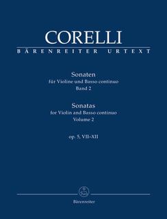 Barenreiter Corelli, Arcangelo (Hogwood): Sonatas  Op. 5 #7-11 Vol. 2 (violin & basso continuo) Barenreiter