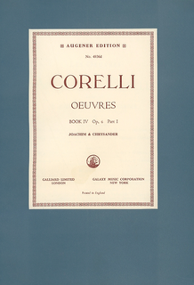 Stainer & Bell Ltd. Corelli, A. (Joachim & Chrysander): (Score) Oeuvres - Complete Works, Op.6, Volume IV, Part I (mixed ensemble)