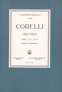 Stainer & Bell Ltd. Corelli, A. (Joachim & Chrysander): (Score) Oeuvres - Complete Works, Op.6, Volume V, Part II (mixed ensemble)