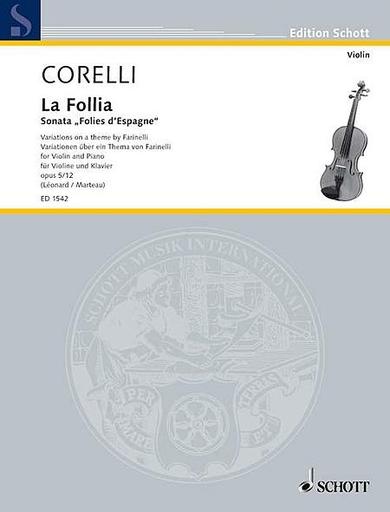 HAL LEONARD Corelli, Arcangelo (Leonard/Marteau): La Folia Variations (violin & piano)